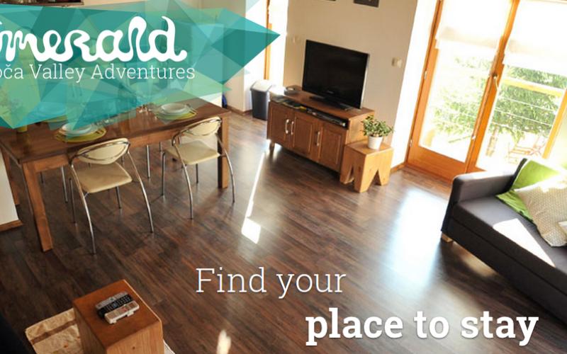 Find best accomodation in Soca Valley!